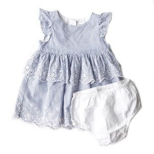 Baby Gap Flutter Striped Dress and Bloomers